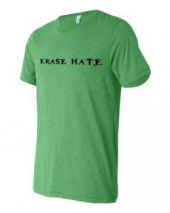 Erase Hate Triblend Green