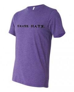 Erase Hate Triblend Purple