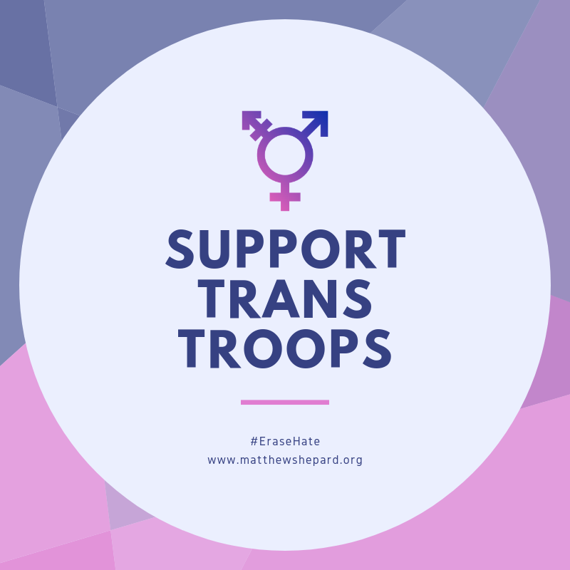 MSF's Statement on the Transgender Troops Ban